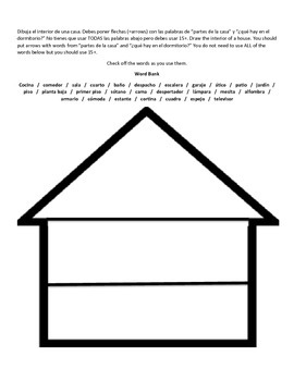 House Vocabulary Label & Draw