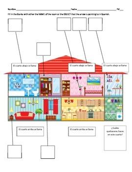 House Vocabulary Label & Draw