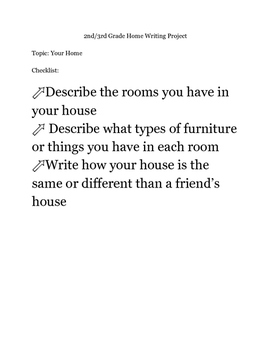 House Writing Project