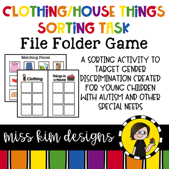 House and Clothing Sorting File Folder Game for Special Education