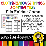 Folder Game: House and Clothing Sorting for Special Education