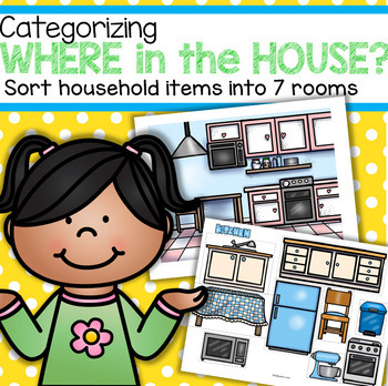 House and Furniture Sort - 7 Rooms in Color & b/w Plus Emergent Reader