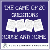 House and Home 20 questions games - No prep ESL speaking a