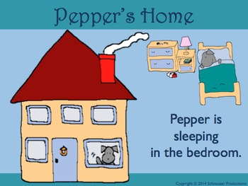 House and Rooms in English with Pepper