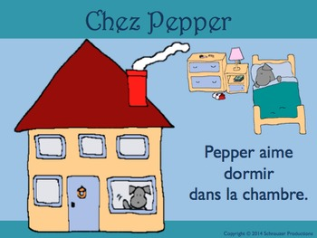 House And Rooms In French With Pepper By Schnauzer Productions Tpt