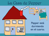 House and Rooms in Spanish with Pepper