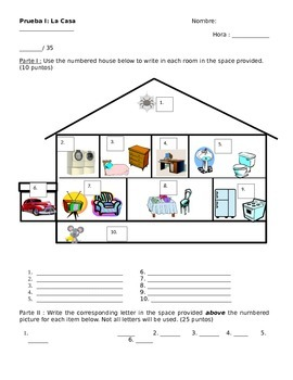 House (and things found in the house) Quiz