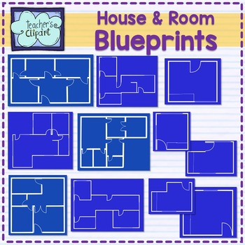 Blueprints teaching resources teachers pay teachers house and room blueprints clip art malvernweather Image collections