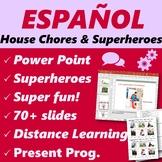 Español: Quehaceres (Spanish: House chores)