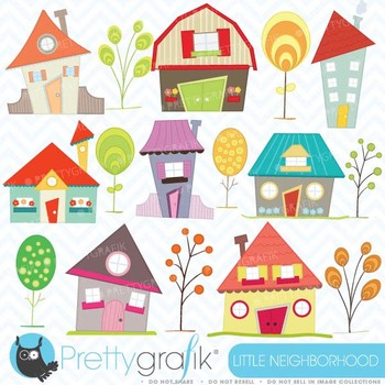 House clipart commercial use, vector graphics, digital clip art - CL397