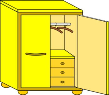 House clipart, rooms, furniture and appliances - Clipart de la casa