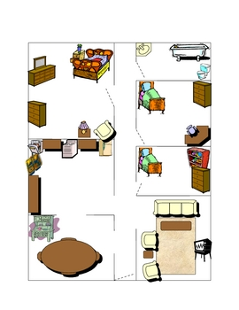House Floor Plan Partner Speaking Activity