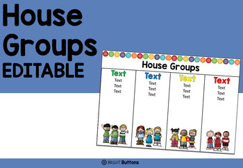 House groups display - buttons theme