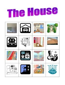 House in English Bingo game