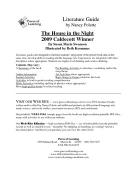 House in the Night Literature Guide