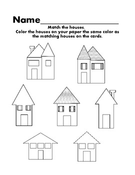 House matching color and visual discrimination activity