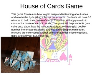 House of Cards Common Core Ratio Game