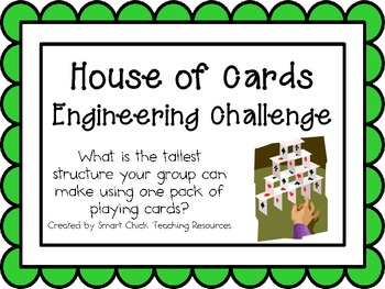 House of Cards: Engineering Challenge Project ~ Great STEM Activity!
