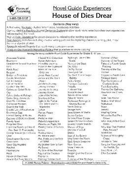House of Dies Drear Literature Guide