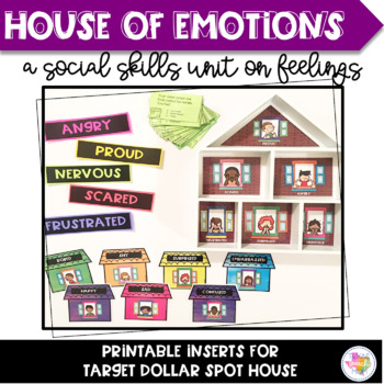House of Emotions- A Social Skills Unit on Feelings (Target Dollar Spot Inserts)