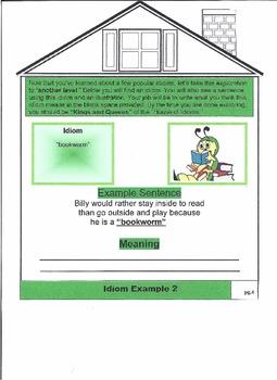 """House of Idioms"" A Figurative Language Flip-Book"