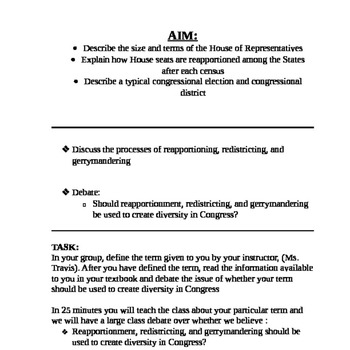House of Representatives: Roles, Functions, Duties student assignment