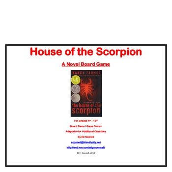 House of the Scorpion Board Game