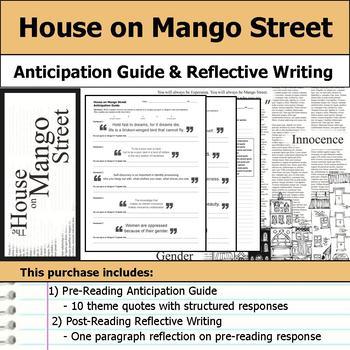 House on Mango Street - Anticipation Guide & Reflection