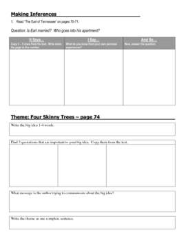 House on Mango Street Chapters 23 - 36 Week 4 Packet