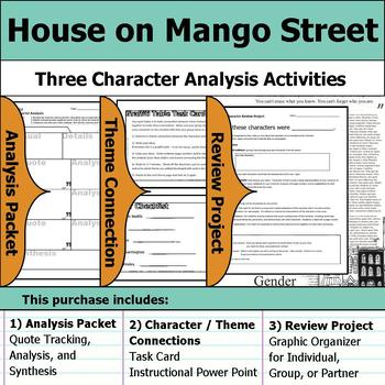 House on Mango Street - Character Analysis Packet, Theme Connections, & Project