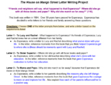House on Mango Street Characterization letter (Editable)