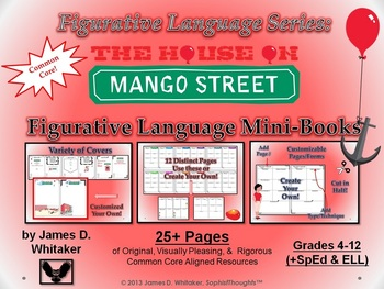 House on Mango Street Figurative Language Mini Books Common Core