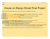 House on Mango Street Final Project (Writing Vignettes)
