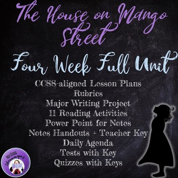 House on Mango Street Full Unit with Lesson Plans, Rubrics, and Answer Keys