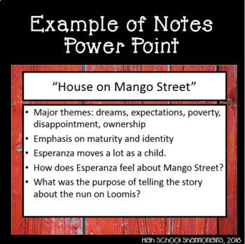 house on mango street full unit with lesson plans rubrics