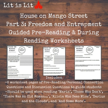 House on Mango Street: Part 3 (Freedom and Entrapment) Worksheets