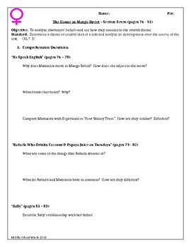 House on Mango Street - Section Seven Guided Reading