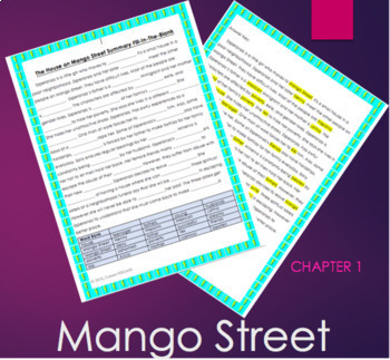 House on Mango Street Summary Fill-In-The-Blank