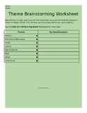 House on Mango Street Themes Brainstorming Worksheet