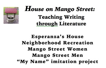 House on Mango Street Writing Units
