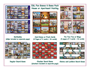 House or Apartment Hunting 6 Board Game Bundle