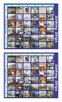 Houses and Apartments Types-Features Legal Size Photo Battleship Game