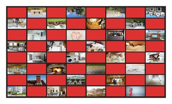 Houses and Apartments Types-Features Legal Size Photo Checkerboard Game