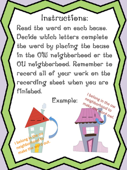 House or Howse - Words with OW and OU