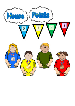House points whole school display