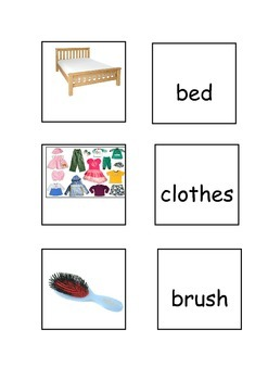 House vocabulary -  picture and word matching game for EAL/ESL/EFL/ELD