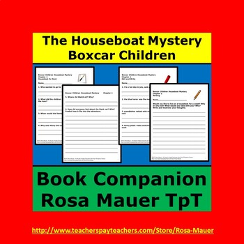 Houseboat Mystery Boxcar Children Book Unit