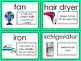 Household Appliances Vocabulary Words Color, Cut and Glue Dictionary