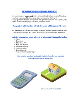 Household Budget Project: Taxes, Insurance, Loans, Rent, Groceries, and more!