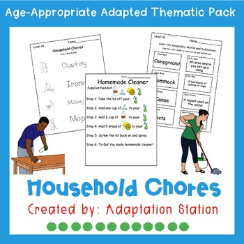 Household Chores Adapted Thematic Pack